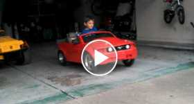 24 Volt Mustang Power Wheels Drag Race Holeshot Test Kid 3
