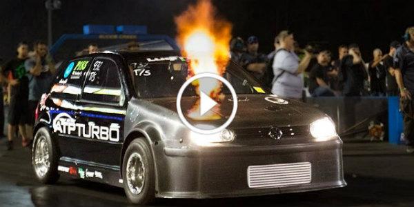 900 HP VW Golf Drag Race 31