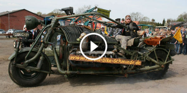 Das Panzer Bike The Heaviest motorcycle In The World T55 Russian Tank Engine 41