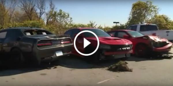 Kids CrashThree Expensive Stolen Dodge Hellcats 11