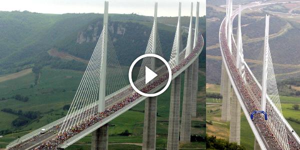 Tallest Bridge In The World Viaduct Millau France 2