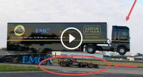 World Record EMC Truck Jump and Lotus F1 Team New MT 09