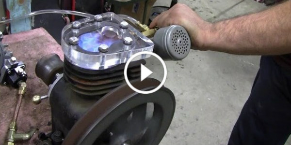 Glass Head Briggs Engine First Test Run 31