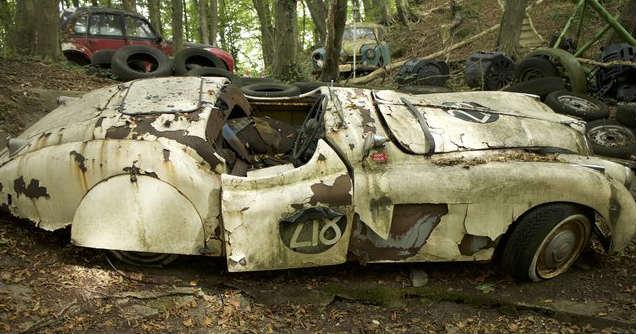 Million Dollar Worth Car Graveyard German Racing Driver Michael Frochlich 8