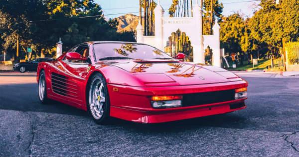 1990 Ferrari Testarossa Investment college tuition 14 years 2