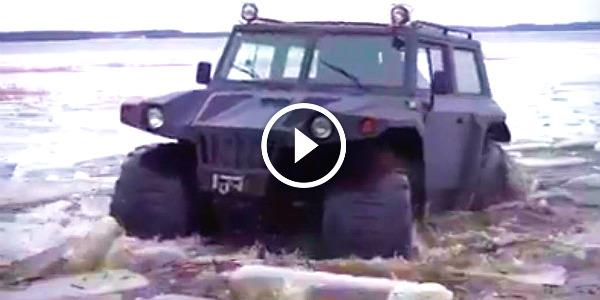 powerful SUV Russia Ice Tearing 1 TN