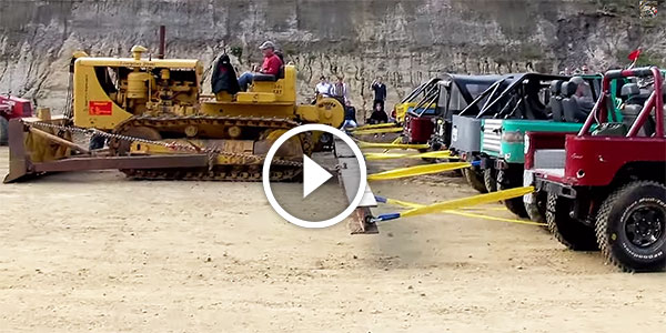 Caterpillar D8 Bulldozer Vs Twenty Toyota Land Cruisers Tug Of War