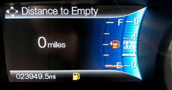 Empty Fuel Tank Driving 6