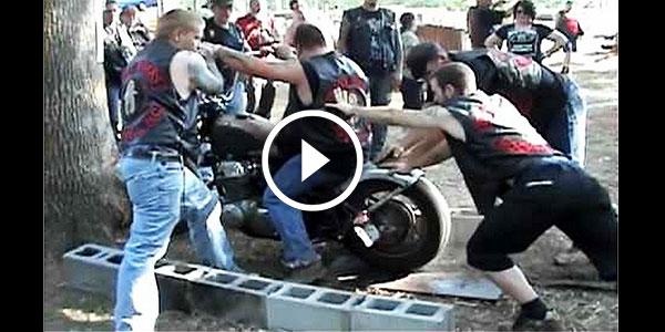 Guy Harely Davidson Best Burnout Fail Crash