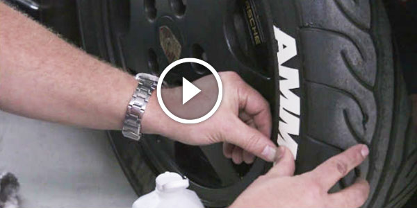 How to Install Custom Tire Decals letters retro