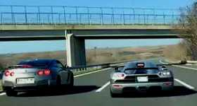 Koenigsegg CCX Supercar VS Nissan GT-R R35 Street Racing Turkey