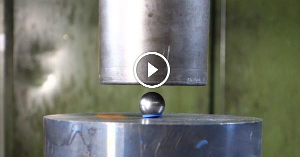 Hydraulic Press Crushing Bearing Ball Items 8