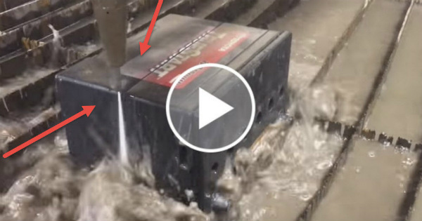 cutting car battery waterjet