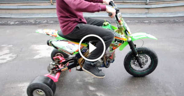 dirt bike converted to a drift trike the ultimate one. Black Bedroom Furniture Sets. Home Design Ideas