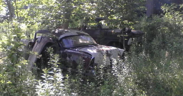 Abandoned Chevy Classic Cars In The Junk Yard In Shady Spring