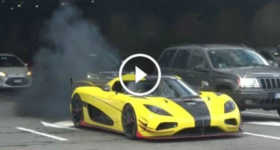 Yellow Koenigsegg Agera RS Engine Milan 2