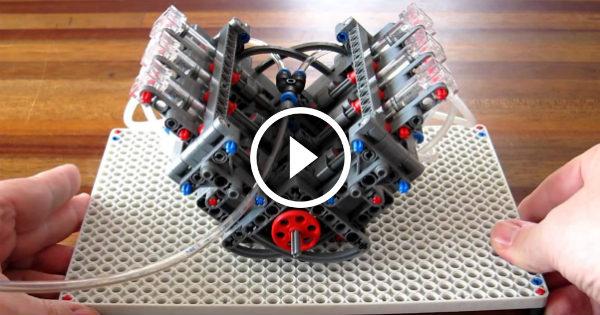 V6 Pneumatic LEGO Engine 1 TN
