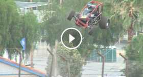Austin Williams Loses Control Sprint Car Crashes Jumps Fence 1