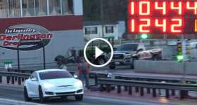 Fastest Tesla P100D Sets The Fastest ¼ Mile Record 1
