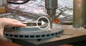 How To Dimple Brake Rotors Tutorial Slotted Or Cross-Drilled 2