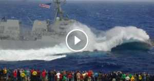 Military Ship USS Dewey DDG-105 Nose Dive 2