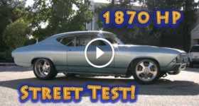 Old Chevelle Has 1800 Horsepower street test 2 TN