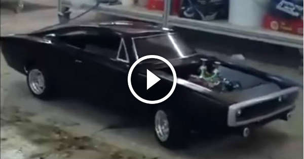 real mini v8 powered rc dodge charger how cool is that. Black Bedroom Furniture Sets. Home Design Ideas