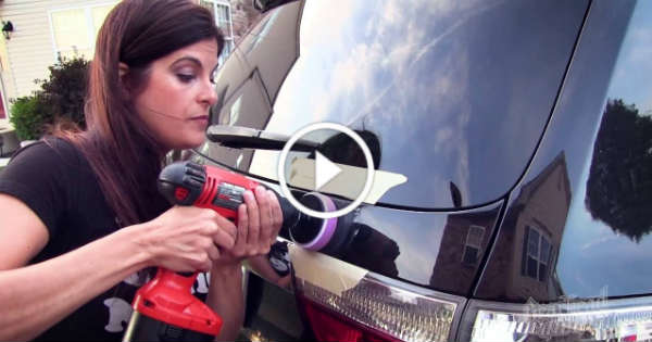 How To Buff A Car >> Rachel De Barros Demonstrates How To Remove Scratches From Your Car! For Beginners! - Muscle ...