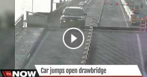 SUV Driver Jumps Over Open Florida Drawbridge 1