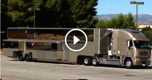 Will Smith Motorhome 2 story trailer luxurious 2
