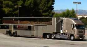 Will Smith Motorhome 2 story trailer luxurious 4