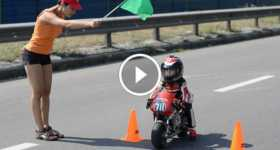 4-Year Old Baby Biker Insane Motorcycle Skills 1