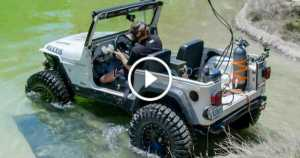 Cummins Powered Diesel Jeep Drives 12 Feet Underwater Dirt Every Day 1 TN