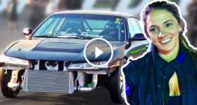 Girl Drives Her Manual Nissan 2JZ 240 9 seconds 1