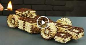 How To Make A F1 Race Car From Matches Without Glue 1