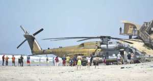 Huge Marine Corps Helicopter Makes An Emergency Landing California 3