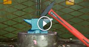 Hydraulic Press Crushing Anvil Hammer 3