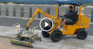 Paving Machines workers save time 2