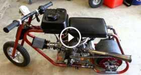 Roots Supercharged Mini Drag Bike Start Up 1