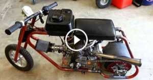Roots Supercharged Mini Drag Bike Start Up 1