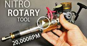 Rotary Tool Powered By A Nitro Burning Two Stroke RC Car Engine 1 TN