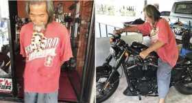 Shabby Clothes Buys Harley Davidson cash 12