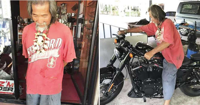 Shabby Clothes Buys Harley Davidson cash 12