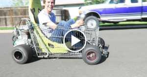 Shopping Go Kart wheelie arrested 1