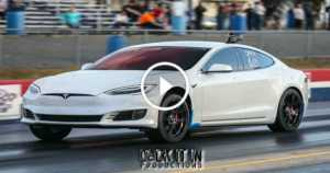 Tesla P100D Races Muscle Cars 1 TN