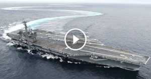 Aircraft Carrier drifting speed fast sea 2