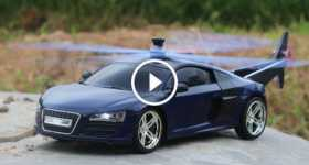 Audi R8 RC Helicopter Car tutorial how to build 2