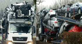 Brand New Ford Cars Smashed Transporter Low Bridge 5