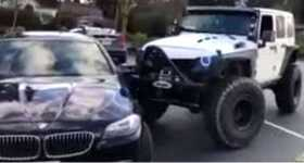Jeep Pushes BMW 1