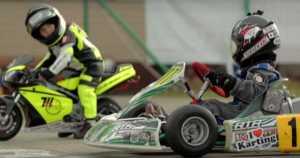 Pocket Bike vs Shifter Kart kids racing 6